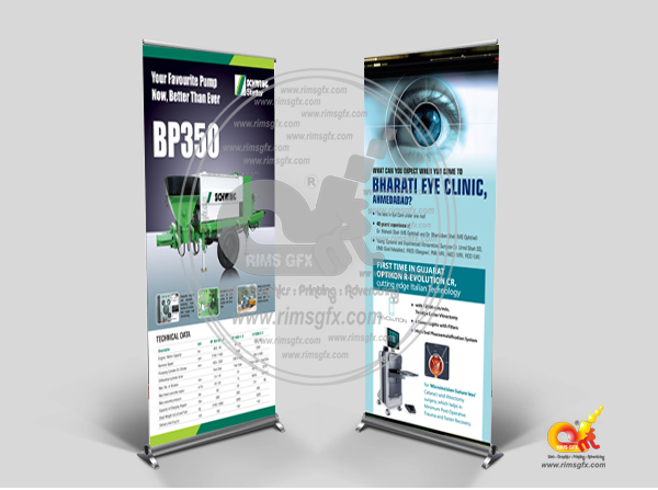 Exhibition Stall Banner : Banner standee printing rimsgfx advertising co creative